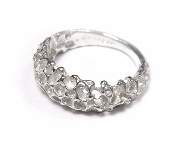 Image of Silver cluster ring