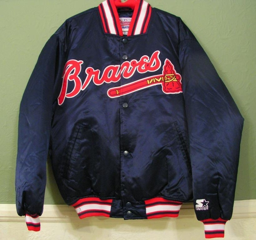 DEADSTOCK VINTAGE ATLANTA BRAVES STARTER SATIN JACKET