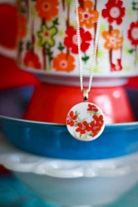 Image of Red Daisy Necklace