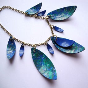 Image of Multi Leaf Necklace