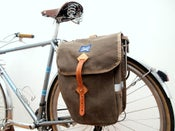 Image of City Panniers - Brown Waxed Canvas