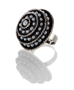 Image of Pearl Swirl ~ tiny faux pearls encircle the epicenter of time
