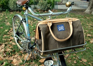 Image of Journeyman Porteur Bag - Brown Waxed Canvas and Leather