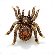 Image of Spidy ~ Web worthy! Huge Swarovski Crystal ring