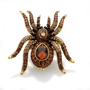 Image of Spidy ~ Web worthy! Huge Swarovski Crystal ring