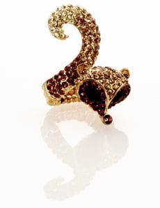 Image of Stupid Like a Fox ~ Foxtail Swarovski crystal ring