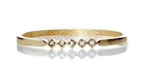 "Image of Money Talks BS walks ~delicate 5 Cubic Zarconia""diamond""  studded hinge bracelet"