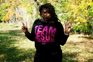 Image of Team Jesus off the shoulder Sweatshirt