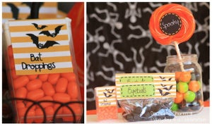 Image of DIY Printable Bat Halloween Tic Tac Labels