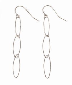 Image of ELLIPTICAL EARRINGS SILVER