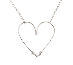 Image of HEART NECKLACE SILVER