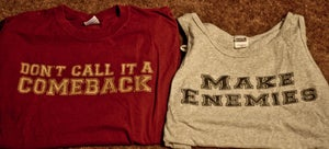 Image of Make Enemies Tank/ Don't Call it a Comeback Maroon T