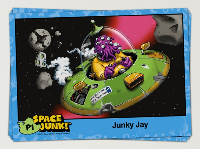Image of Space Junk™ Oversized Preview Trading Cards