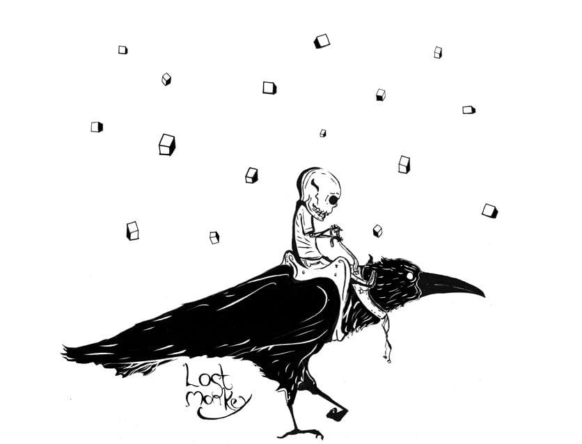 Image of Raven Rider, white