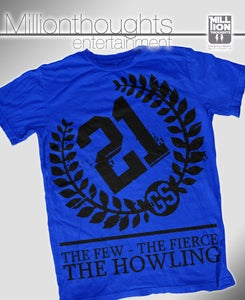 Image of The Howling shirt - royal blue/black