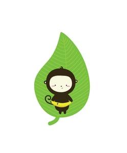 Image of Banana Leaf Monkey 8x10 Print