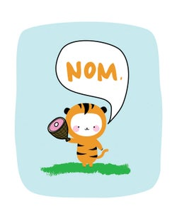Image of Hungry Tiger 8x10 Print