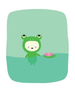 Image of Frog In Pond 8x10 Print