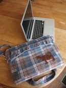 "Image 1 of Men's coat Computer Bag:  Cloudy Days are Good For Coffee. (15"" LapTop Case)"