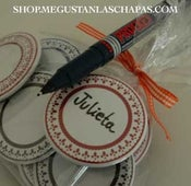 Image of SET 10 CHAPAS EN BLANCO PARA PERSONALIZAR 50mm