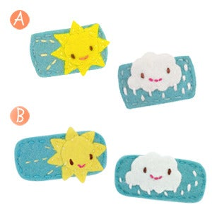 Image of sunny & cloudy hair clips
