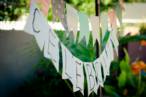 "Image of Handmade ""Celebrate"" Garland"