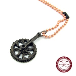 Image of UNION Parts & Recreation Bicycle Jewelry- Crank-set Charm Necklace