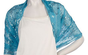 Image of Wrap It ~ sheer floral sequin embroidered sheer wrap-scarves