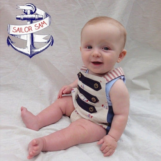Image of 'drop anchor' rompers Size 00