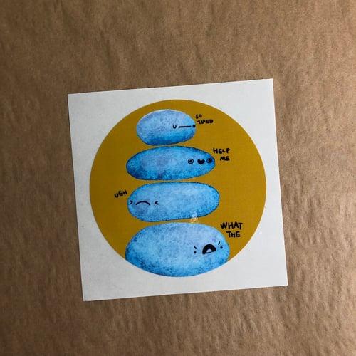 Image of XL lumpy friends saying stuff stickers