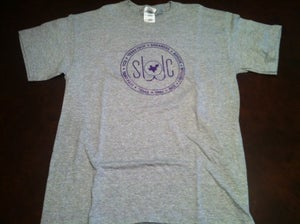 Image of Grey and Purple Shirt