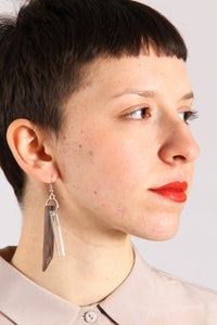 Image of (+90) wood-plexi Earring