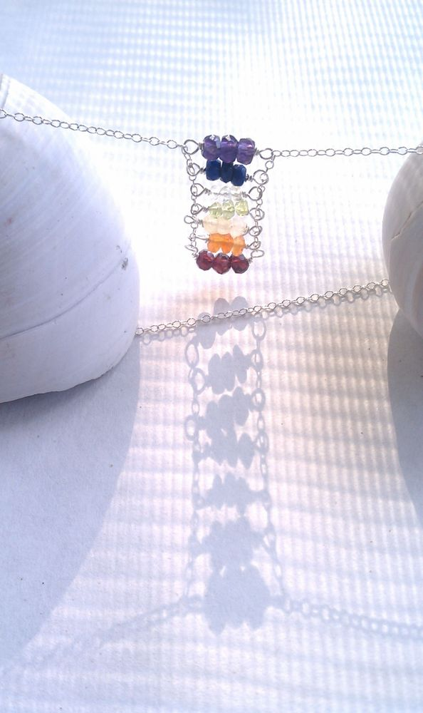 Image of Chakras Ladder Necklace 1
