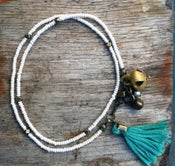 Image of Beaded tassel bracelet by Valentine