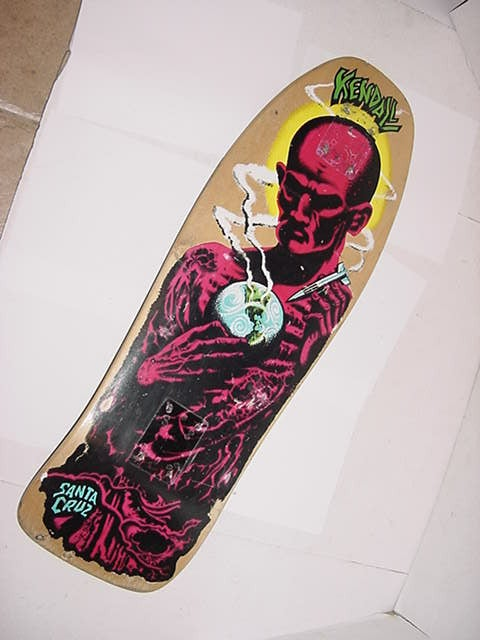 Image of Old School Jeff Kendal Skateboard Deck- Original