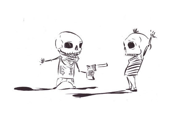 Image of White Skeleton T shirt