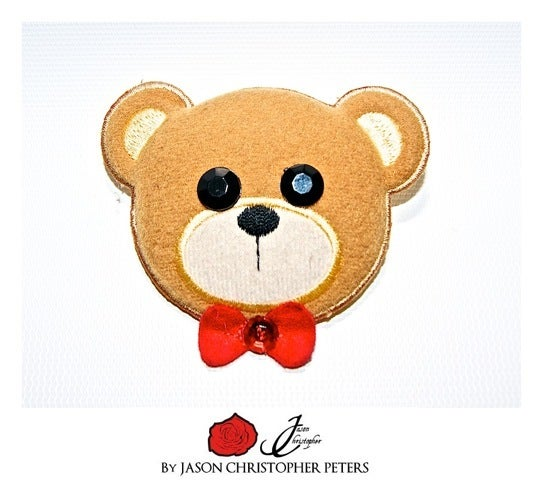 Image of Swarovski Plush Bear Pin
