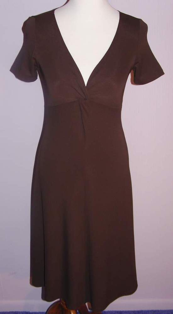 Image of Michael Kors Chocolate Brown Jersey Dress