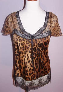 Image of Dolce & Gabbana Animal Print Blouse