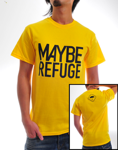 "Image of ""Maybe Refuge"" Yellow Crew Neck T-Shirt"