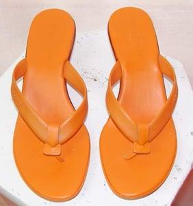 Image of Hogan Bright Orange Thongs