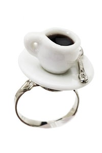 Image of Tea Cup Porcelain Ring