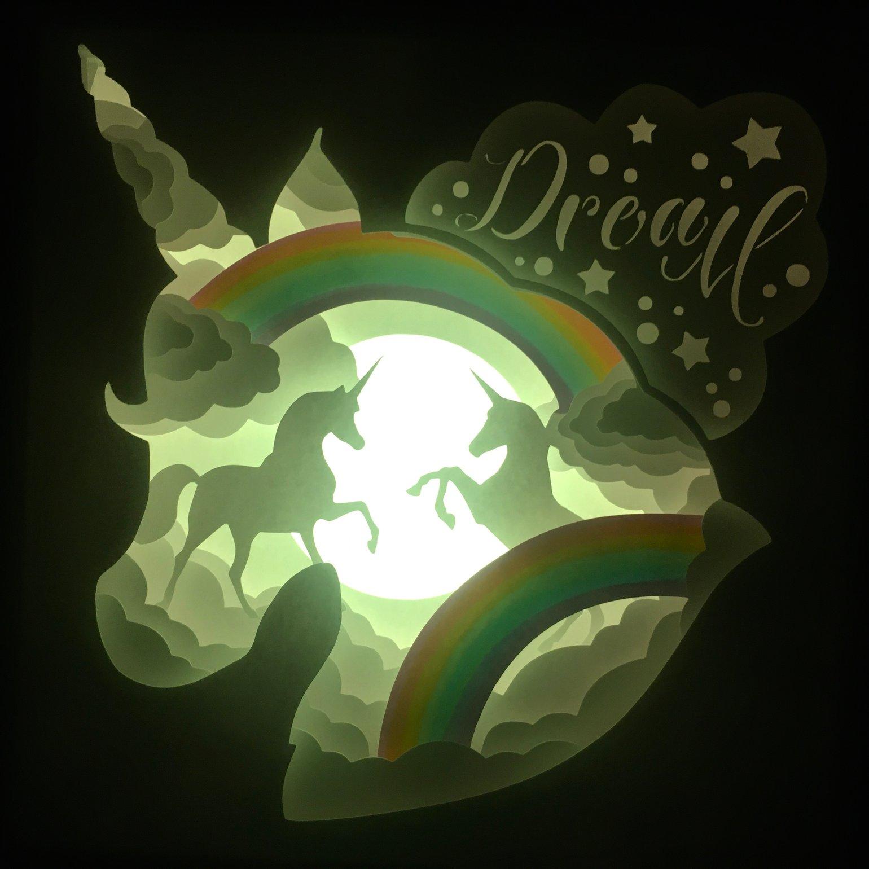 Image of Unicorn Rainbow Night Light