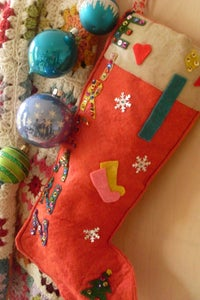 Image of stocking | red felt