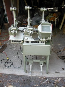 Image of 16mm upright movieola from Columbia College in NYC