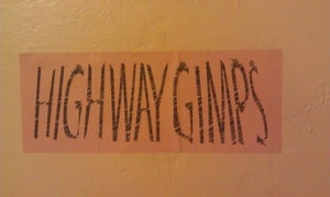 "Image of ""Giant"" Highway Gimps Sticker"