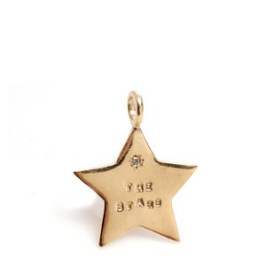 Image of 14kt Gold Sun & Stars Charms