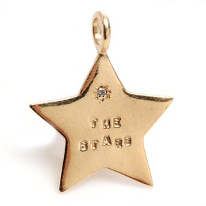 Image of 14kt Gold The Stars charm with diamond