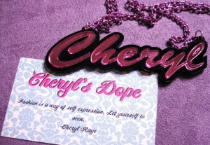 Image of Cheryl's Dope Custom Acrylic Name Necklace