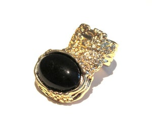 Image of Maydoll Black Stone Knuckle Ring